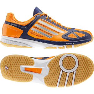 Adidas adizero Feather Pro 2 Handballschuhe - orange/dunkelblau